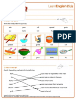 Emailing Worksheets Cooking Answers