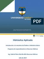 Introducción a la mecánica de fluidos e hidráulica