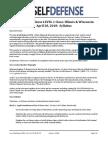 Law of Self Defense LEVEL 1 CLE IL & WI Syllabus 180428