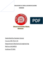 A Summer Training Report at Diesel Locomotive Works