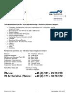 Aerodata Maintenance PriceList 2017