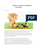 How to Assess Soft Skills