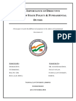 Consti Assignment- FDs and DPSP