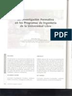 Investigacion Formativa en Ingenieria