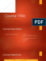 Course Title