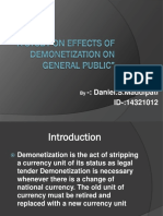 A Study on Effects of Demonetization On