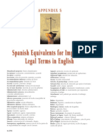 Spanish Equivalents Legal Terms