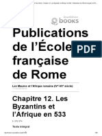 Les Maures Et l'Afrique Romaine (IVe-VIIe Siècle) - Chapitre 12