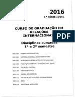 Plano de Ensino Introdução Às R.I.