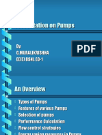 Energy Conservation in Pumps