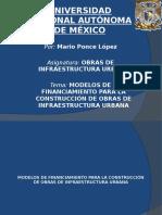 financiamiento de obras de infraestructura urbana