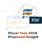FY 2018 Proposed Budget