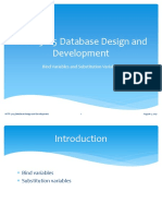 HTTP 5105 Database Design and Development Bind Variables Lecture 6 Extension (1)