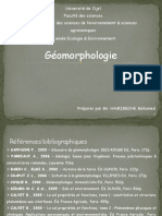 Cours de Géomorphologie