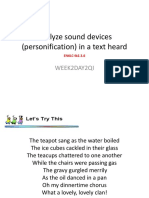 Analyze Sound Devices (Personification) in A