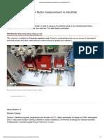 Reactive Power & Power Factor Measurement in Industrial Plant _ EEP