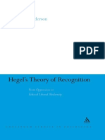 Sybol S. C. Anderson-Hegel's Theory of Recognition