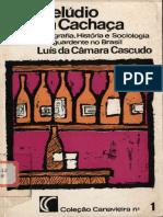 CÂMARA CASCUDO, Luis Da. - Prelúdio Da Cachaça