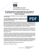 Nota- Minagri Informa de La Entrega de La Buena Pro Para Estudio de Represa Del Río Tambo