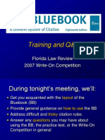 Bluebook Orientation