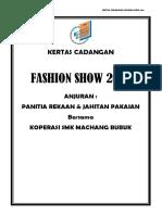 Kertas Cadangan Fashion Show 2017