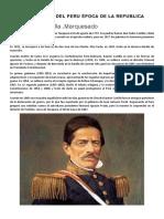 Presidentes Del Peru Época de La Republica