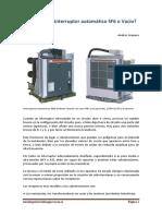 ¿Qué Elegir Interruptor Automático SF6 o Vacío