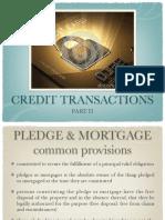 Credit Transactions II