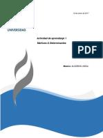 1. Matrices & Determinantes