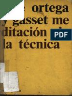 Meditación de la técnica (José Ortega y Gasset).pdf