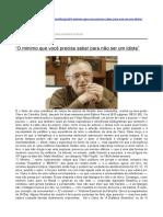Reinaldo Azevedo Sobre Olavo de Carvalho e Seu Livro