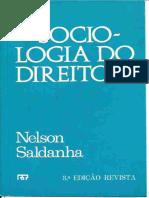 Sociologia Do Direito - - Nelson Saldanha