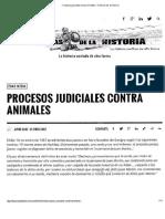 Procesos Judiciales Contra Animales