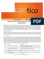 2016 SET-OCT - Especificacion de Motores Electricos de Media Tension