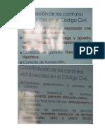 Clasificación de Los Contratos en El Código Civil