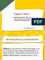 Capitulo II. Enfoques de la investigacion