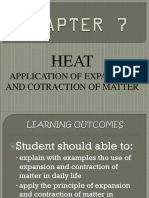 Application of Expansion and Cotraction of Matter