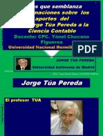 Aproximaciones Sobre Los Aportes Del Dr. Jorge Túa Pereda a La Ciencia Contable