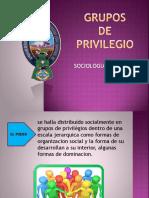 GRUPOS  de PRIVILEGIO SOCIOLOGÍA