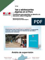 PPT Niñas y Adolescentes Indígenas 20junio2016 - Minedu