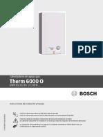 Manual de Usuario Therm 6000O 16L CO