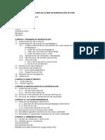 Estructura de La Tesis de Investigación Acción
