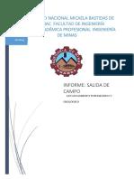 Informe de Geologia de Minas.
