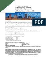 Baltimore Letter