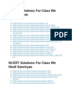 NCERT Solutions for Class 9 Hindi