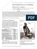 Design Parameters of Driver Seat in an Automobile