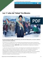 Los 11 Años Del _Jefazo_ Evo Morales - HispanTV, Nexo Latino