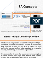 Business Analysis Core Concepts