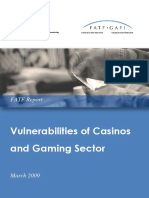 Vulnerabilities of Casinos and Gaming Sector