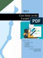 CASE STUDY (Statistics) Mam Estor